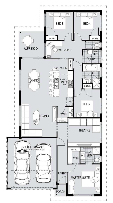 House And Land Packages In Kinross Impressions Planos De Casas Planos Casas
