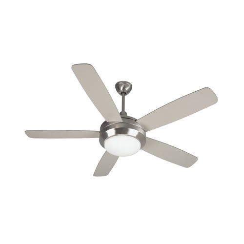 Helios Stainless Steel 52-Inch One-Light Ceiling Fan with Five Blades