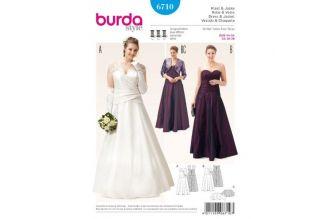 Střih na svatební a plesové šaty 6710