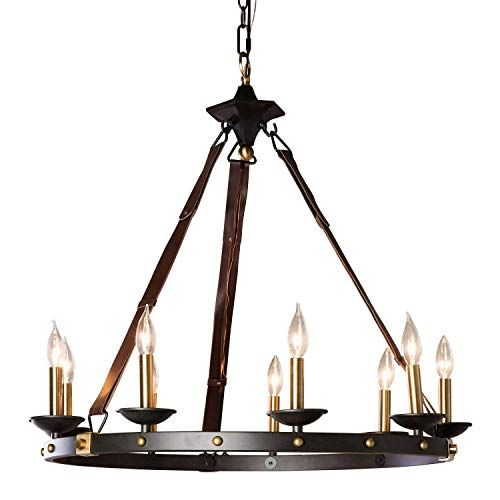 Rustic Chandelier Lighting Great For High And Low Ceiling Rooms