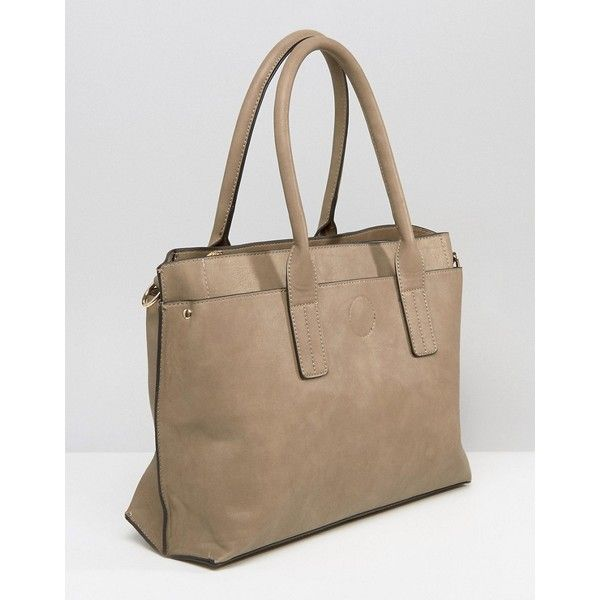 Oasis Classic Tote Bag ($41) ❤ liked on Polyvore featuring bags, handbags, tote bags, grey, zip top tote bags, tote handbags, grey tote, gray tote bag and studded purse