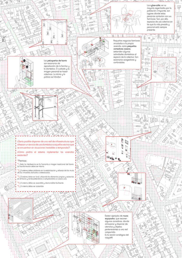 Isabel Gutiérrez Sánchez :: Thesis Special* // Escuela Técnica Superior de Arquitectura de Madrid, ETSAM // System of temporary-use domestic equipment for Lavapiés neighborhood (Madrid, Spain)                                                                                                                                                                                 Más