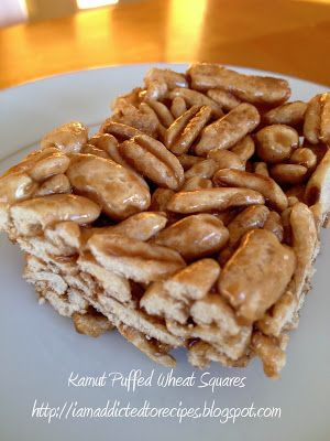 Kamut Puffed Wheat Squares | Addicted to Recipes