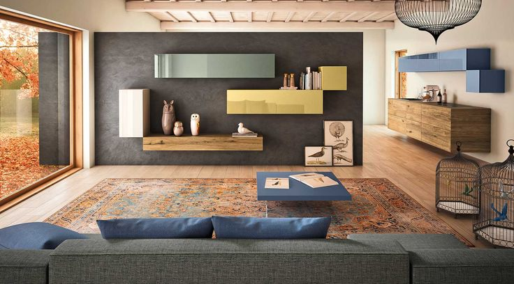 Madie Colorate con tavolo per zona living