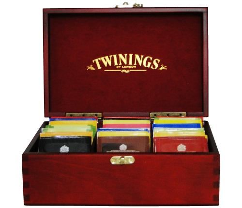 Caixa De Cha De Madeira Twinings Coleção 60 Saches Original - R$ 289,00 em Mercado Livre