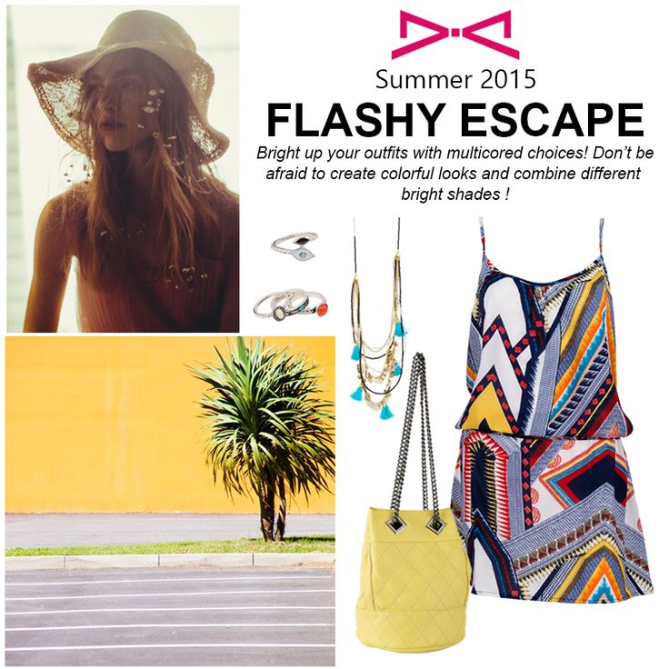 Flashy Escape.  Bright up our outfits with multicorlored choices! Don't be afraid to create colorful looks and combine different bright shades!  #achilleas_accessories