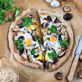 Shiitake&Walnut Puree Pizza (in Russian) | EAT! | Pinterest