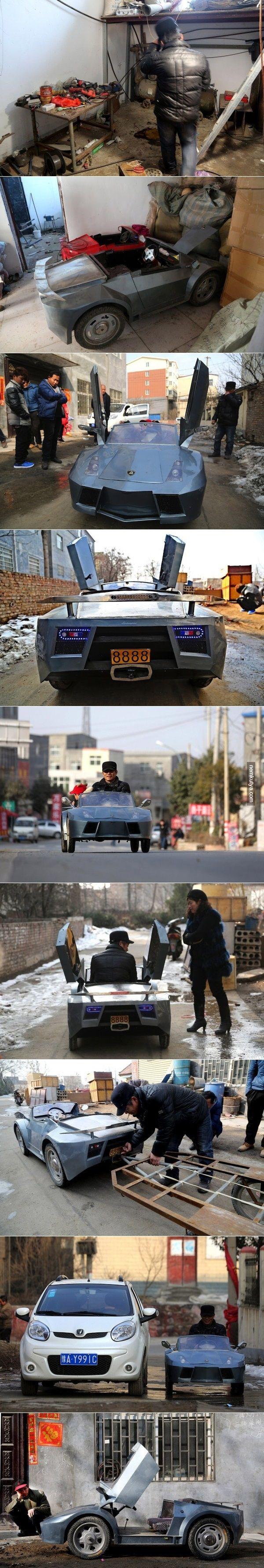 Nemkutya.com - Unokájának épített egy luxusautót csupán fél év alatt!