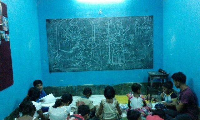 Drawing class @ Manju Kayal Foundation