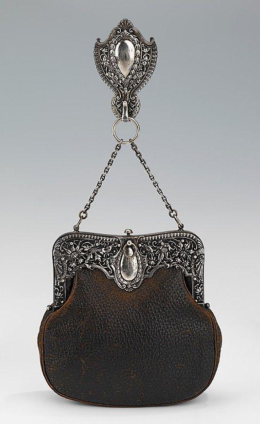 Circa 1895 Chatelaine bag, Gorham Manufacturing Company, American