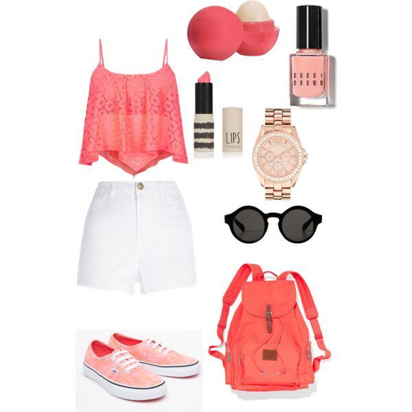 Peach outfit #ootd school