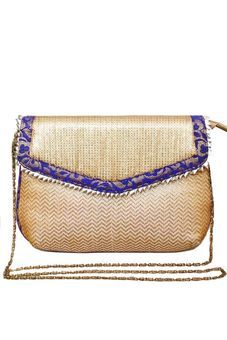 Beige Clutch Bag With Sequined Embroidered Flap by Neonia, Clutches & Potlis  #bags #clutches #potlis #handbags #slingbags #wedding #troussoue #casual #embroidery #prints #colors #themes #fashion #pretty #cutebags #embellishedbags #metal #boxclutches #trendybags #indianfashion #vogue #ethnicbags #stylishbags #embroideredclutches #gottapattiwork #cocktailpurses#
