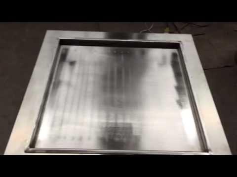 fast freezing Glory single square flat pan fried ice cream machine - YouTube