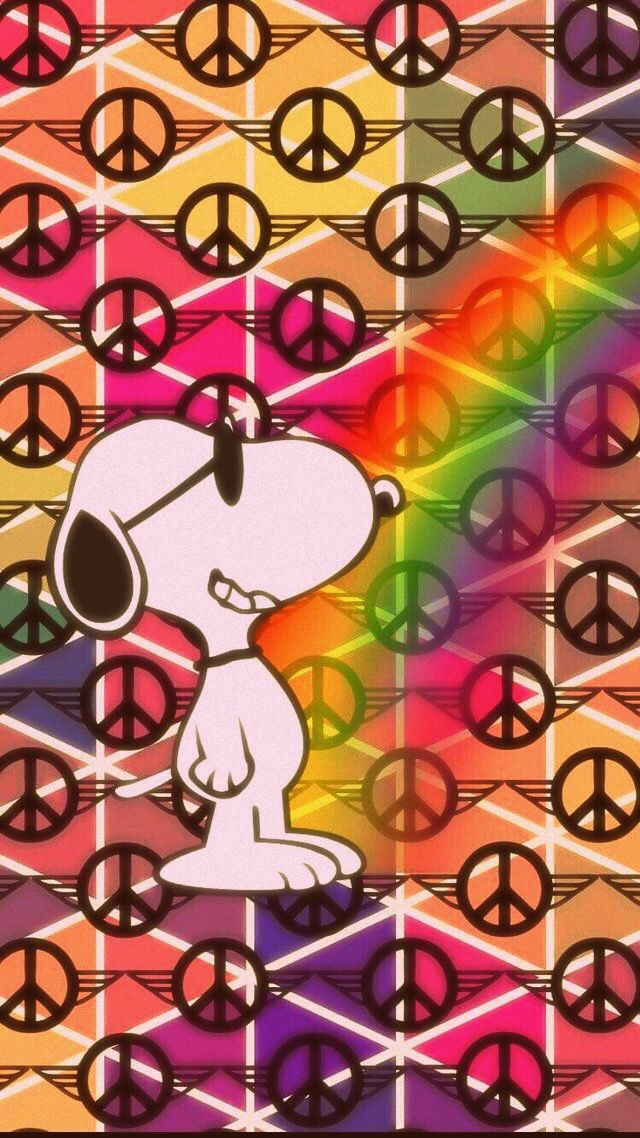 ✌Peace Sign Background #Snoopy