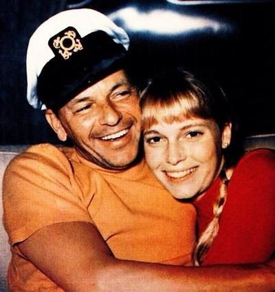 On July 19, 1966, Mia Farrow (21) married Frank Sinatra (51). He wanted her to give up her acting career which she initially agreed to do, but she soon tired of doing nothing. She signed to star in Rosemary's Baby. Filming ran over its schedule, which angered Sinatra, who had cast her in his film The Detective. In November 1967, Sinatra's lawyer served her with divorce papers. Farrow blamed the demise of the marriage on their age difference. The two remained friends until Sinatra's death.