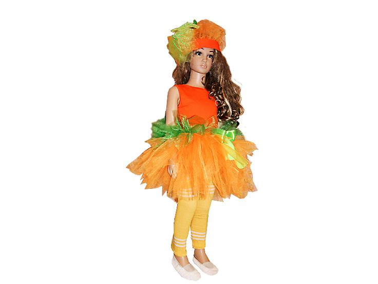 Костюм тыквы для девочки на праздник Осени и Хэллоуин. Детские карнавальные костюмы своими руками. Создай неповторимый образ своей дочки с ModistkaOnline.