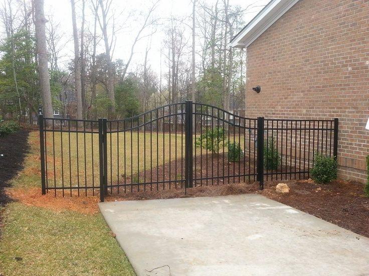 Black Aluminum Double Drive Gate Elite Fencing Fences