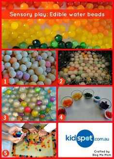 boba pearls, water, lrg pot, food colouring, lrg tub 1. Purchase boba pearls at Asian grocery store. 2. Boil pearls until tender: 1/2 C pearls, 5 C water 3. Cover & simmer, should come out almost glowing. 4. Separate beads & add food colouring. 5. Mix water & beads in tub. All hands in!