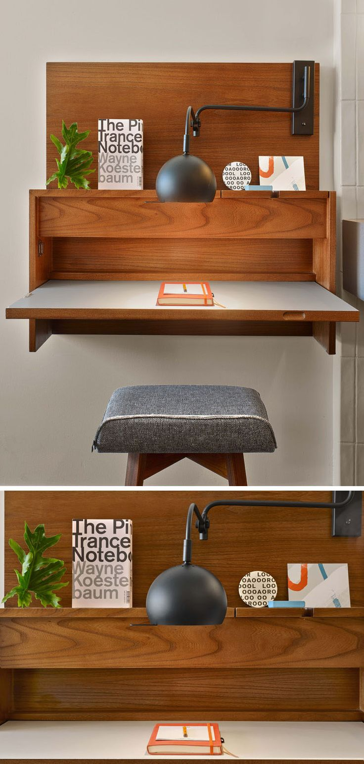 17 best ideas about wall mounted desk on pinterest for Small wall table