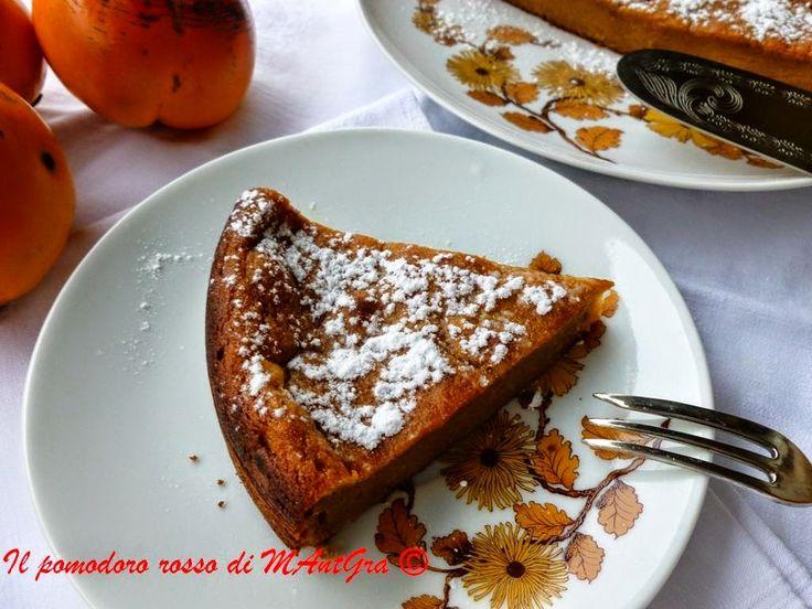 Il Pomodoro Rosso di MAntGra: Torta di cachi ed amaretti