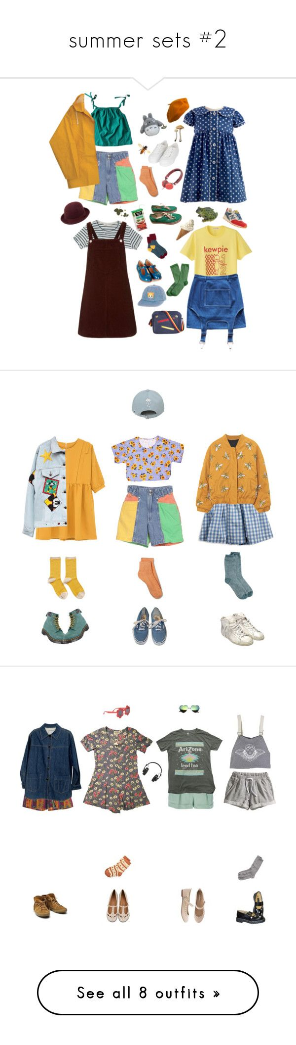 """summer sets #2"" by floxpolimon ❤ liked on Polyvore featuring Merona, A.P.C., Topshop, Marc by Marc Jacobs, Vans, Brooks Brothers, Burberry, Mulberry, New Balance and Margarin Fingers"