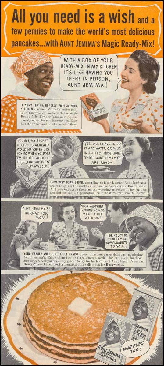 """All you need is a wish and a few pennies!"" - Aunt Jemima's Magic Ready-Mix ad - Good Housekeeping 3/1/1940"