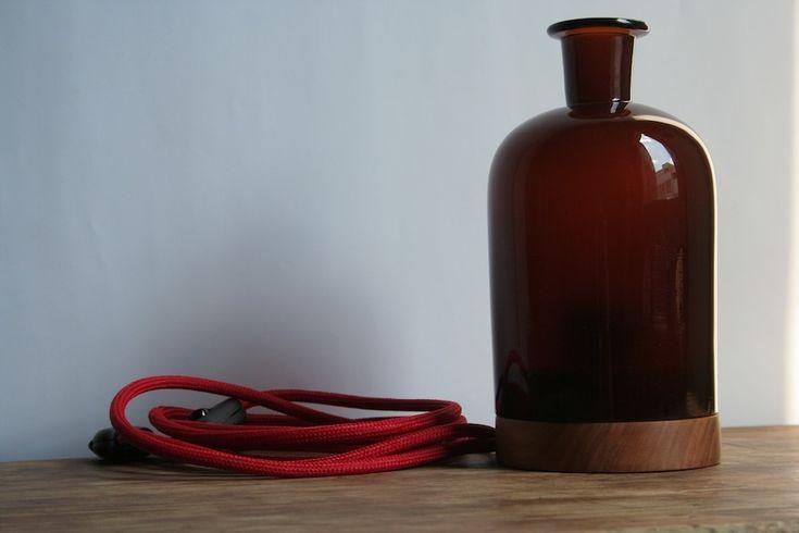Von der Apothekerflasche zur Lampe. #upcycling #DIY