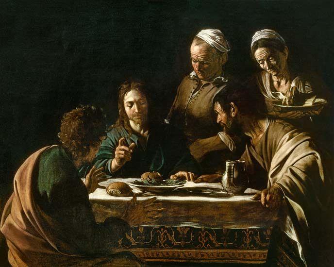 Michelangelo Caravaggio - The Supper at Emmaus