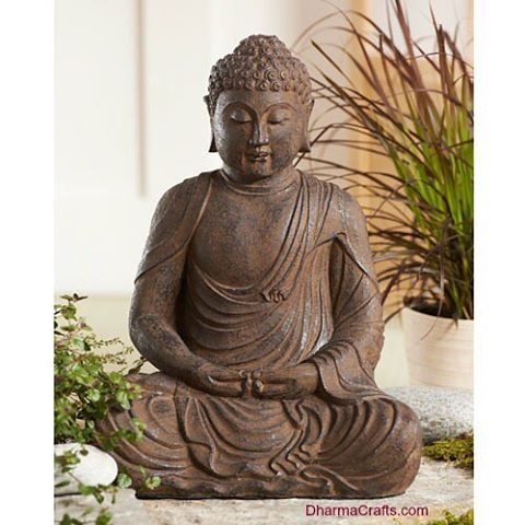 A peaceful focal point for your contemplative garden, this Sitting Garden Buddha statue is a finely crafted interpretation of Amitabha Buddha, the Buddha of Boundless Light.