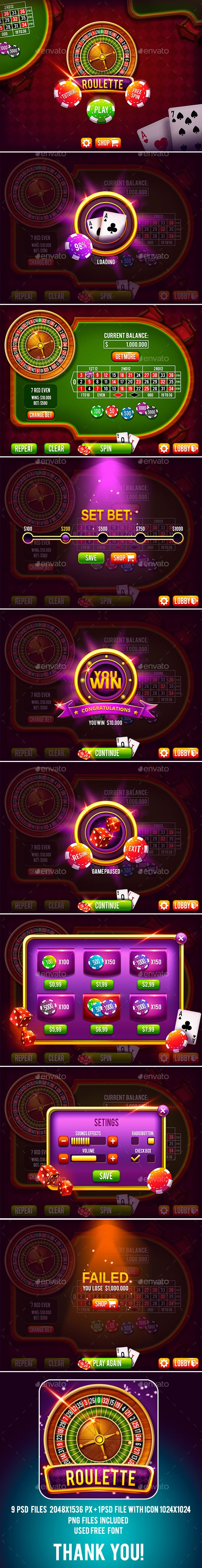 Casino Roulette Game Pack with GUI on Behance