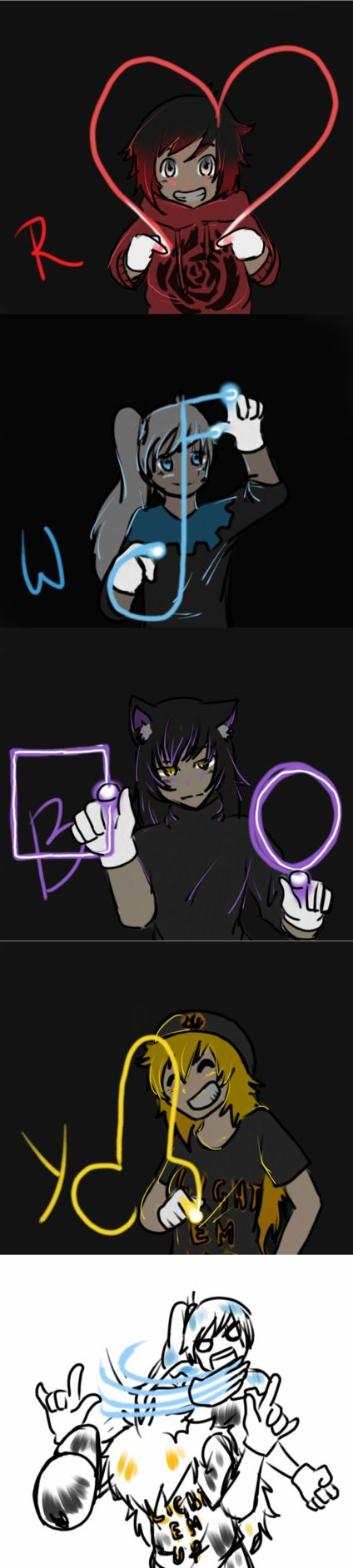 Of course Yang would draw (?) that. On second thought, who wouldn't draw a neon dick.