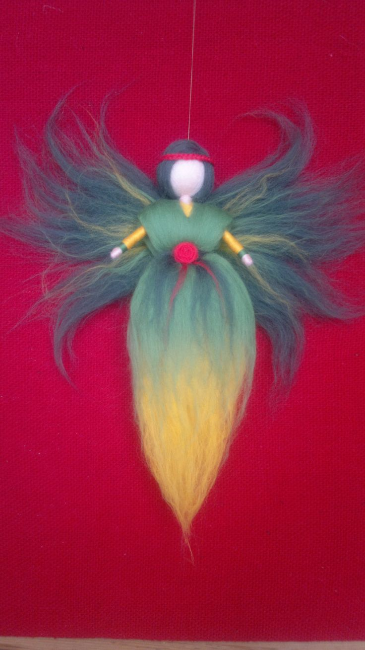 Indian Wool fairy, Waldorf inspired, Home decor