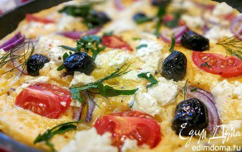 Омлет по мотивам греческого салата (Greek-Salad-Omelette)    Кулинарные рецепты от «Едим дома!»