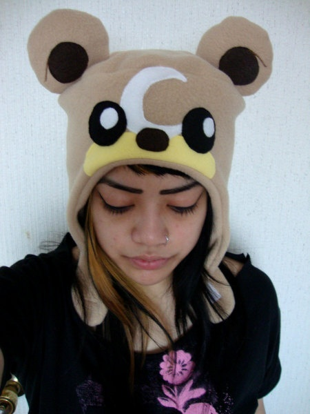 TEDDIURSA brown bear pokemon winter hat by againstmarj on Etsy, $38.00  SOOO CUUUTE