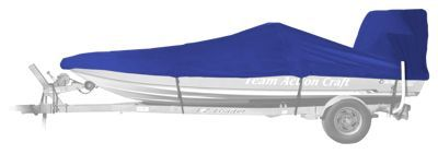 Bass Pro Shops Select Fit Hurricane Boat Covers for Flat Bottom Boats with Outboard - Blue - 17'6'' to 18'5''