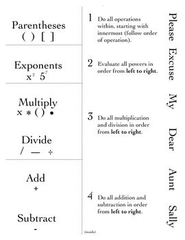 Active Notetaking in Math [Foldables]: Order of Operations