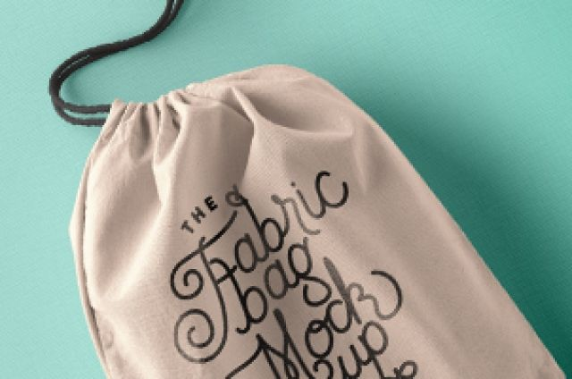 This is the closed version of our psd fabric bag with its drawstring to help your create a showcase of your...