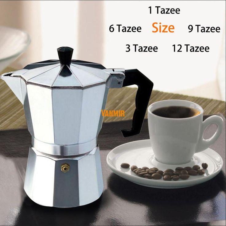 Moka Espresso Mesin Pembuat Kopi/glantop Aluminium 1cup/3cup/6cup/9cup/12cup Italia Kompor//Alat perkolator Pot