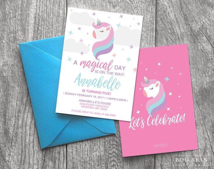 Magical Unicorn Birthday Invitation | Printable Invitation | Unicorn Invitation | Unicorn Party | Pony Party | Pony Invite by BooBeanDesign on Etsy
