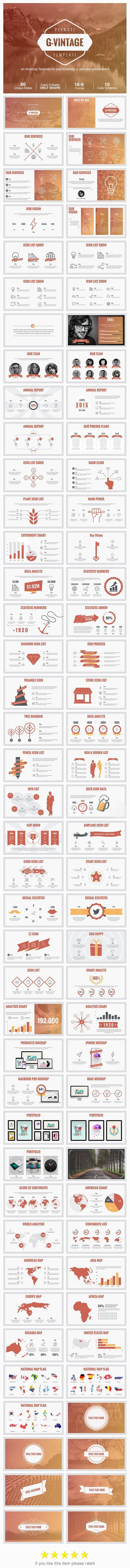 G-Vintage Keynote Presentation Template #design #slides Download…