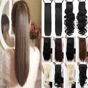Clip-In-Ponytail-Pony-Tail-Extensions-Hair-Extension-Wrap-around-USA-SELLER-UCB
