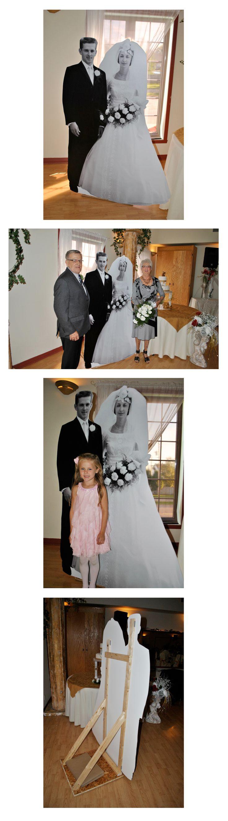 Des mariés grandeur nature pour célébrer un 50e anniversaire de mariage, une idée qui fait fureur... Real size bride & groom to celebrate a 50th wedding anniversary, an idea that will be popular!