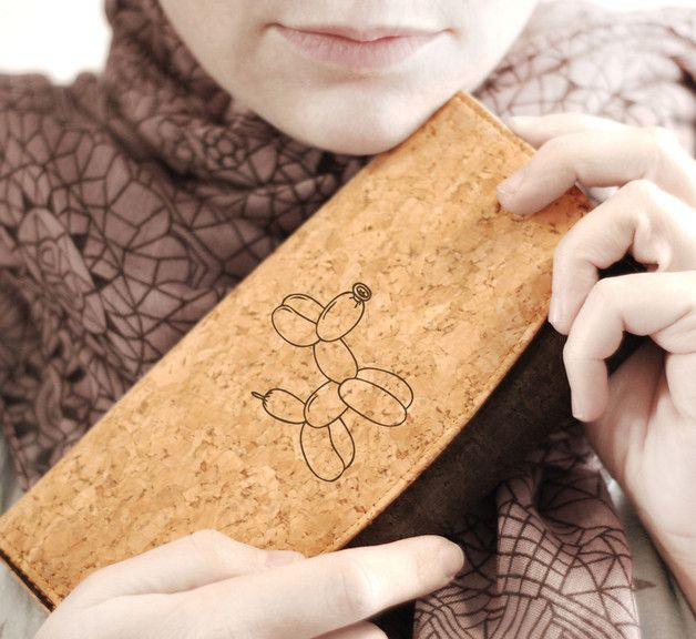 •••DESCRIPTION••• Beautiful and chic cork wallet with laser engraving of our graphics. The a cork fabric is made of thin natural cork shavings obtained directly from the bark of the cork oak...