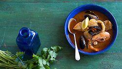 Peruvian Seafood soup (parihuela)