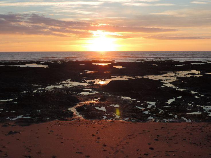 coucher de soleil à Sion sur l'Ocean