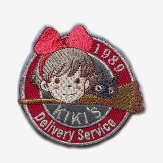 Kiki's Delivery Service patch 1989 魔女の宅急便 Embroidered patch Iron on patch Sew on patch Applique