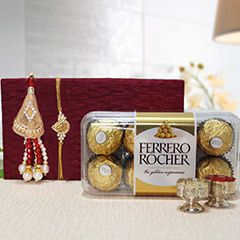 Buy Lumba Rakhi online from sendrakhi.com with same day delivery in india at attractive price. Send beautiful Lumba Rakhi to india to your loved one.