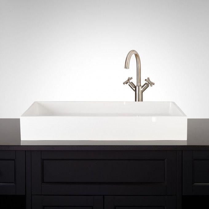 Capella Matte Resin Vessel Sink Sink Vessel Sink Faucet