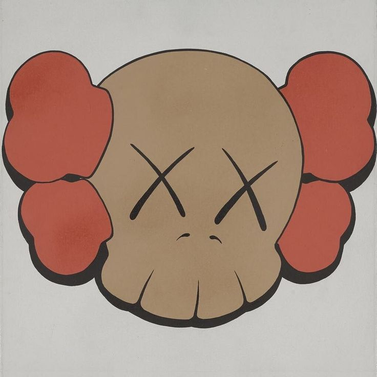 "UNTITLED 1999 KAWS Acrylic on canvas 15.8x15.8"" [from photo on Sotheby's Hong Kong website - sold for US$41899 January 2017] #KAWS #modernart"