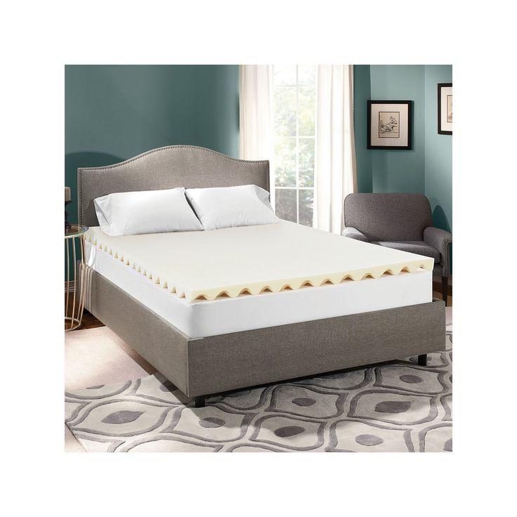 Serta 2 5 Inch All Around Comfort Memory Foam Mattress Topper White Foam Mattress Topper
